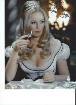 Hammer Actress Veronica Carlson's autograph by wemayberry