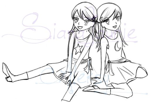 Hiwatari Twins Anime Style by SianaLaurie