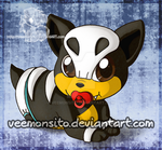 Leu, the baby Houndour by Veemonsito