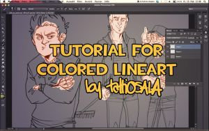 Colored Lineart Tutorial by tattiOsala
