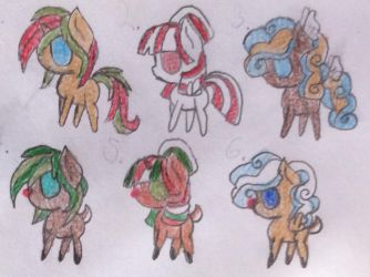 MLP Cheap Christmas Adoptables (LIMITED ADDITION) by BluberySmile5108