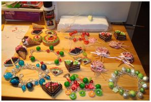 Some clay jewellery by Erikor