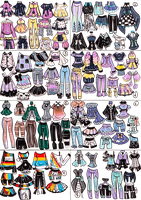 CLOSED- Mini OUTFIT MixandMatch by Guppie-Vibes