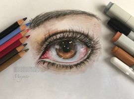 Realistic Eye Drawing by magato98