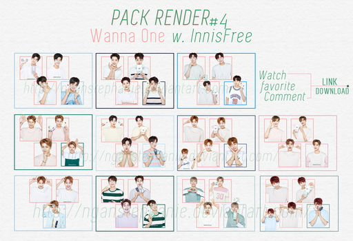 [40+ PNGs] - PACKRENDER 05 - WANNA ONE - INNISFREE by nganstephanie