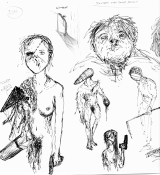 (old) horror sketches by punkandartStJimmy