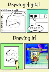 Drawing digital vs irl comic by TheDawnDragon