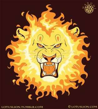 Fire Lion by Naryu