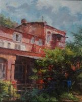 Old house (oil on canvas) by whiskypaint