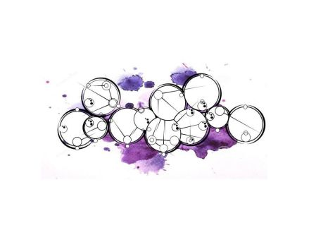 Gallifreyan encre violette by tom62810