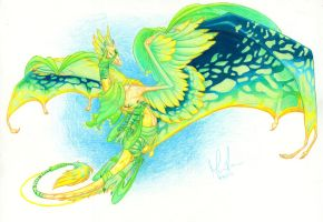 Flight Rising: Flaxen by Kiki-Tayler