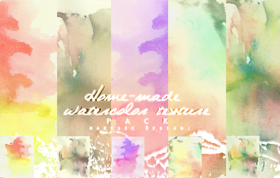 Home-made Watercolor Texture Pack by Marysse93