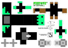 Pixtoyz custom - Frankenbyte (A4 template) by shadree