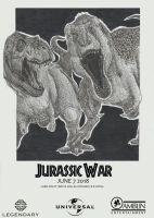 'Jurassic War' Fan-Poster by LythroA