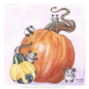 Autumn Gourds by PocketPandasArt