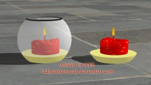 XPS model - Candle by ladystarkennedy