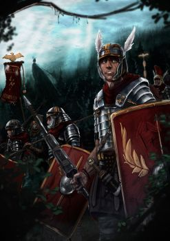 Roman Legionnaires in savage forest by SeeleDS