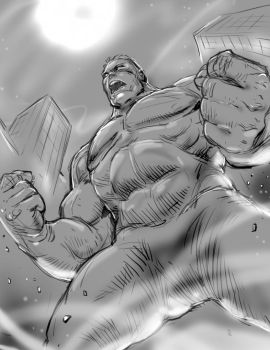 Hulk warm upsketch by BienFlores