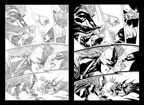 Batgirl vs Batwoman by Ardian Syaf by TheInkPages