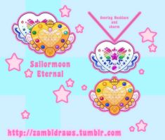 Sailor moon Eternal Brooch by zambicandy