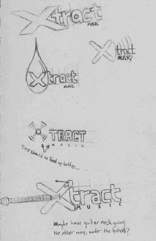 Xtract Music Logo Design Concepts by TheQZ