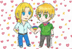 aph: Two cutie gays~ by LoveEmerald
