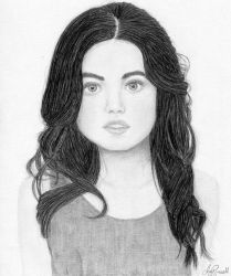 Lucy Hale Pencil Drawing by CanadianEhh