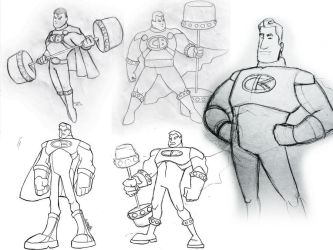 Captain Barbell Sketchdump by gabmadrid