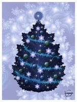 Blue Christmas by CassiopeiaArt