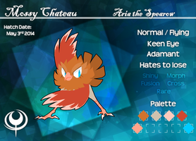 [PKMNation] Mossy Chateau - Aria the Spearow by VazlaKat