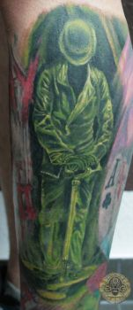 the riddler by 2Face-Tattoo