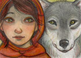 Red Riding Hood and the Wolf by WhimsicalMoon