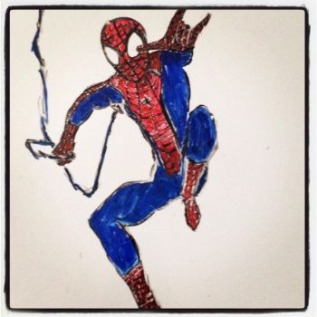 spider man on my whiteboard!! by Natygaby31