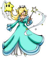Rosalina and Luma by NickyVendetta
