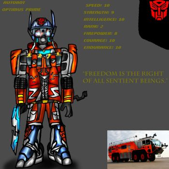 Quick Break: Infusion Optimus Prime by Skylight22