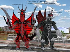 MMD Godzilla Newcomer - Gigan UPDATED +DL+ by MMDCharizard