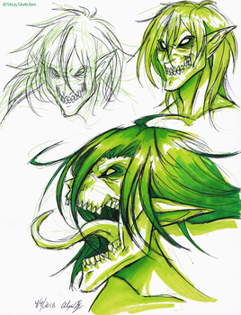 AOT-Rogue Titan doodles by Stray-Sketches