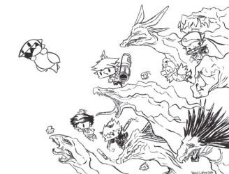 Dragons and Demons outline by Happytreefriends7I