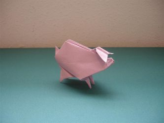 Inflatable Piggy by origami-artist-galen