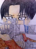 Burden of the Wings (Levi Rivaille) by E-Animelover22