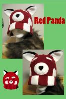 Red Panda Hat by wingedfox111