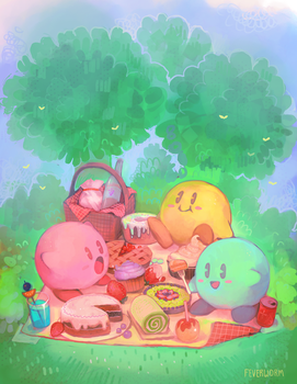 kirby's luncheon by Chaotic-Muffin