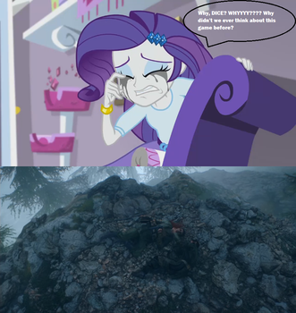 Rarity crying over the saddest scenes in BF1 by Adananian
