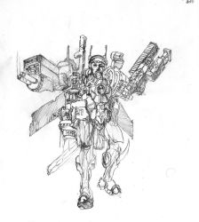 Heavy Arms Battlesuit Concept by Zulden