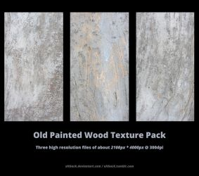 Old Painted Wood Texture Pack by altback