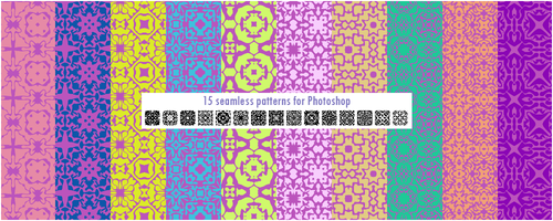 15 seamless patterns for Photoshop pack 3 by CIRQUAN