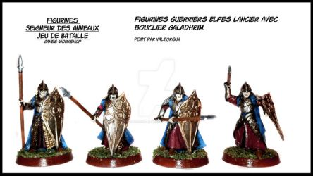 Figurines Warriors Elven lancer Galadhrim by Valtorgun-le-Grand