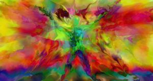 Abstract Angel Color by surrealsol