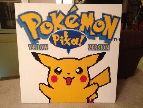 Pokemon Yellow Opening screen Pixel painting by RubiksPhoenix