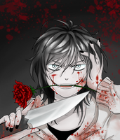 I'm Back~ [Jeff The Killer - (Redraw)] by Six-0-6